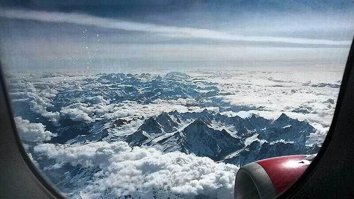 Best Plane Window Seat View Between Zurich And Palma De